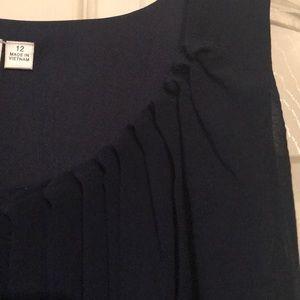 Emma & Michelle Dresses - Navy chiffon dress.